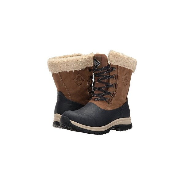Muck Boots Otter/Navy Women's Arctic Apres Lace Mid Boot - Size 8