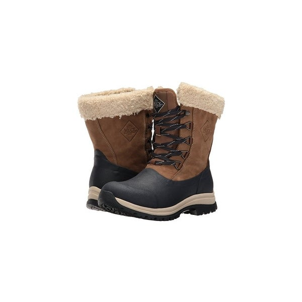 Muck Boots Otter/Navy Women's Arctic Apres Lace Mid Boot -Size 5