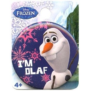 "Disney's Frozen 1.5"" Button: ""I'm Olaf"""