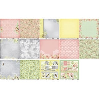"""Scrapberry's The Art Of Nature Paper Pack 12""""X12"""" 8/Pkg-"""