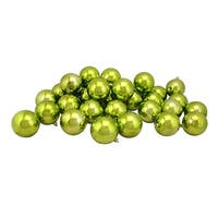 "32ct Kiwi Green Shatterproof Shiny Christmas Ball Ornaments 3.25"" (80mm)"