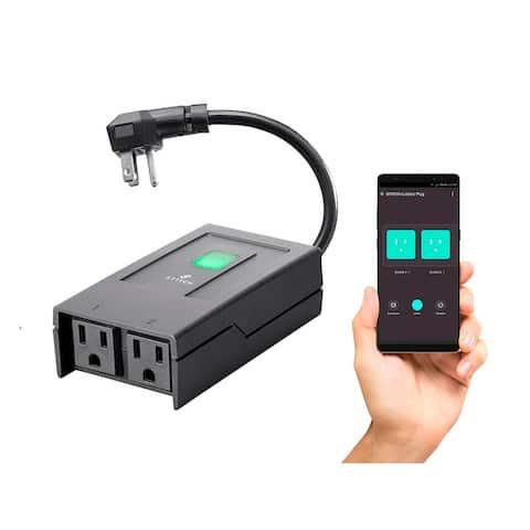 Monoprice Wireless Smart Outdoor Dual Socket