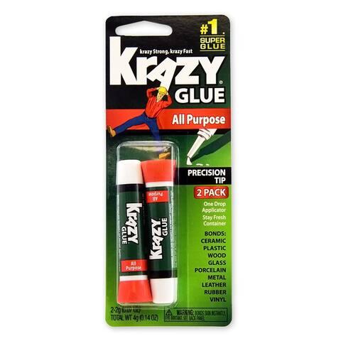 Krazy Glue KG517 All Purpose Glue, 2-Gram, 2-Pack
