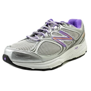 New Balance W840 Women 2E Round Toe Canvas Gray Running Shoe