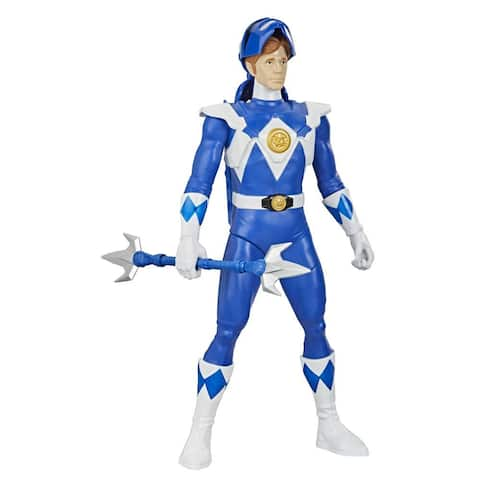 Power Rangers Mighty Morphin Power Rangers Blue Ranger Morphin Hero 12-Inch Action Figure Toy