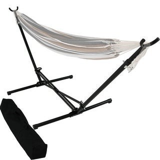 Sunnydaze Portable Folding Hammock Stand for Brazilian Hammocks - Carrying Bag