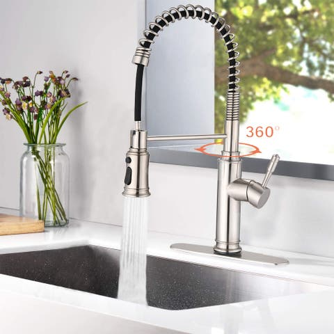 Touch Kitchen Faucet w/Pull Down Sprayer One Handle Spring Sink Faucet