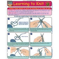 Learning To Knit - Quick Study Reference Guide
