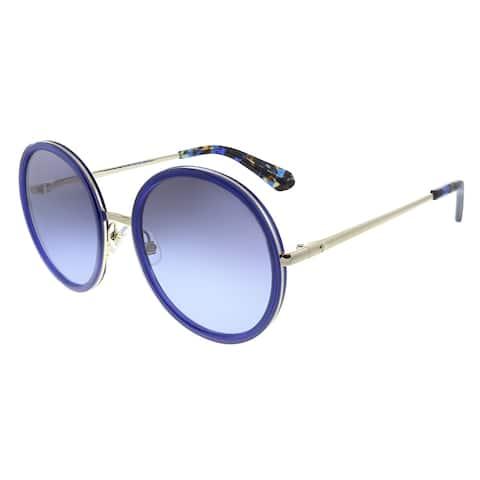 Kate Spade KS Lamonica KY2 Womens Blue Gold Frame Grey Gradient Lens Sunglasses