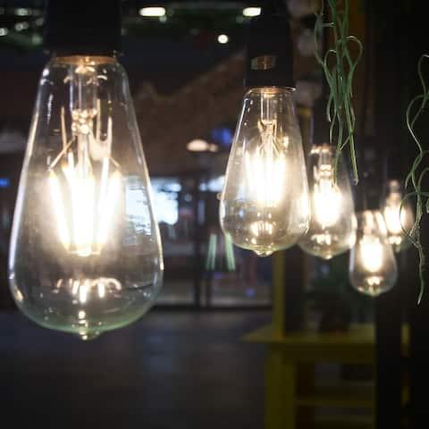Emark 40 Watt Equivalent, ST19 LED, Dimmable Light Bulb - Set of 4 - Clear