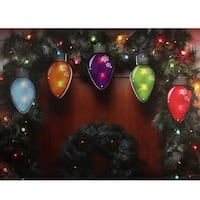 7.25' Multi-Color Shimmering C7 Bulb Christmas Light Garland with 10 Clear Mini Lights - White Wire - multi