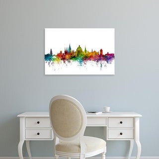 Easy Art Prints Michael Tompsett's 'Oxford England Skyline' Premium Canvas Art