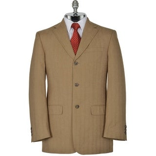 JOSEPH ABBOUD Light Brown Cotton Herringbone Sportcoat Large L Jacket $368