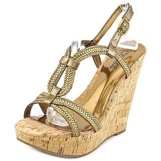 Carlos by Carlos Santana Barby Women Open Toe Synthetic Wedge Heel