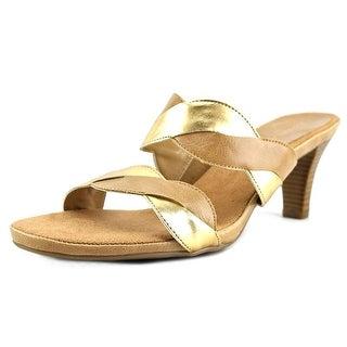 Aerosoles Power Thru Women Open Toe Synthetic Gold Sandals