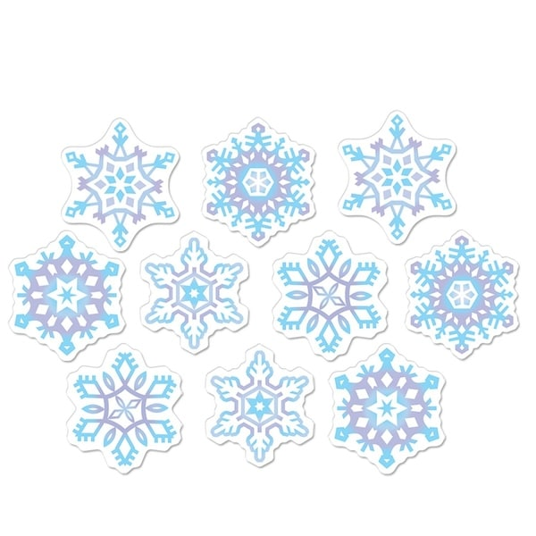 club pack of 240 mini snowflake cutout christmas party decorations 45 purple
