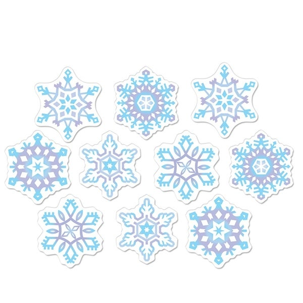 club pack of 240 mini snowflake cutout christmas party decorations 45 purple - Cut Out Christmas Decorations