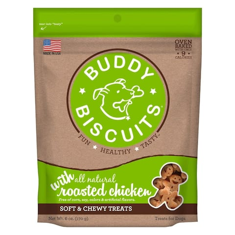 Cloud Star Buddy Biscuits 6 oz Soft & Chewy Dog Treats - Roasted Chicken