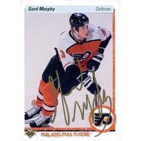 Signed Murphy Gord Philadelphia Flyers 1990 Upper Deck Hockey Card autographed