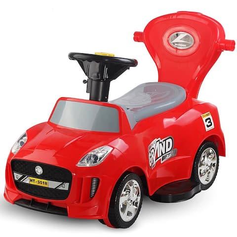 3 in 1 Kids Ride on Push Car Stroller Toddler Wagon