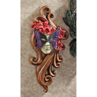 Masquerade at Carnivale Mask Wall Sculpture: Countess Allessandria DESIGN TOSCANO