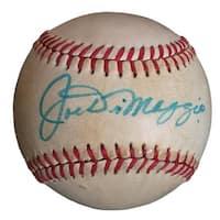 Joe DiMaggio NY Yankees Signed Official American League Baseball PSA E30144