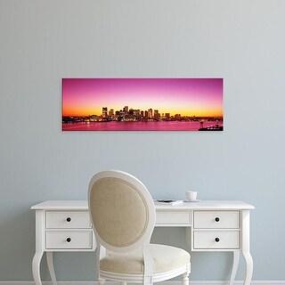 Easy Art Prints Panoramic Images's 'Sunset, Boston, Massachusetts, USA' Premium Canvas Art