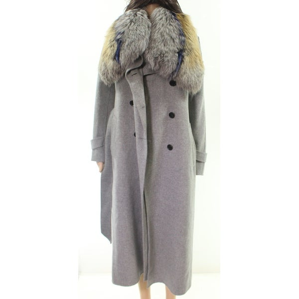 281f653fee0 Shop Mackage Light Gray Women's Size Small S Tri-color Fur Trench ...