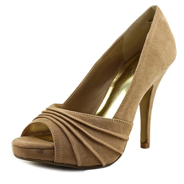 Thalia Sodi Marissa Women Open-Toe Canvas Tan Heels