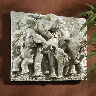 Design Toscano Gentle Giants of the Namibia Wall Sculpture