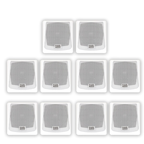 Acoustic Audio AA051W Mountable Indoor / Outdoor Speakers 5 Pair Pack AA051W-5PR