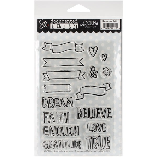 "Documented Faith Clear Stamps 4""X6""-Banner Of Faith"