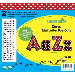 Barker Creek Letter Pop-Outs Set, 2 Inches, Dots
