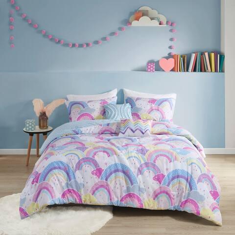 Urban Habitat Kids Lucy Printed Rainbow Cotton Reversible Comforter Set