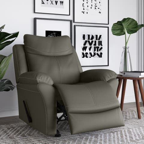 Copper Grove Peqin Faux Leather Wall-hugger Recliner