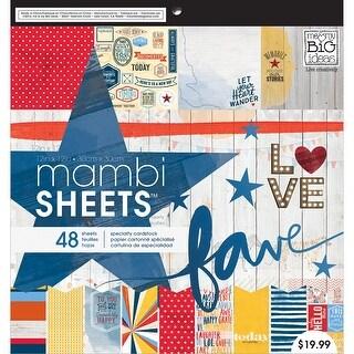 "MAMBI Single-Sided Paper Pad 12""X12"" 48/Pkg-Americana"