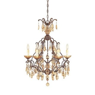 Designers Fountain 98386 Six Light Up Lighting Chandelier from the Bollo Collection