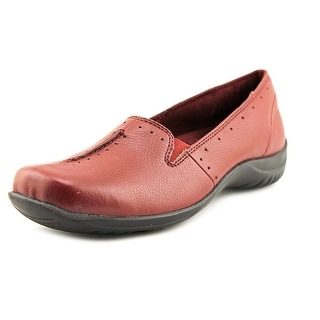 Easy Street Purpose Women W Round Toe Synthetic Red Loafer