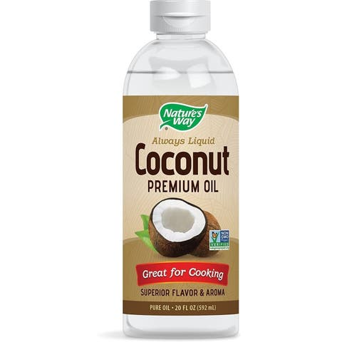 Liquid Coconut Premium Oil Nature's Way 20 oz Liquid x 2