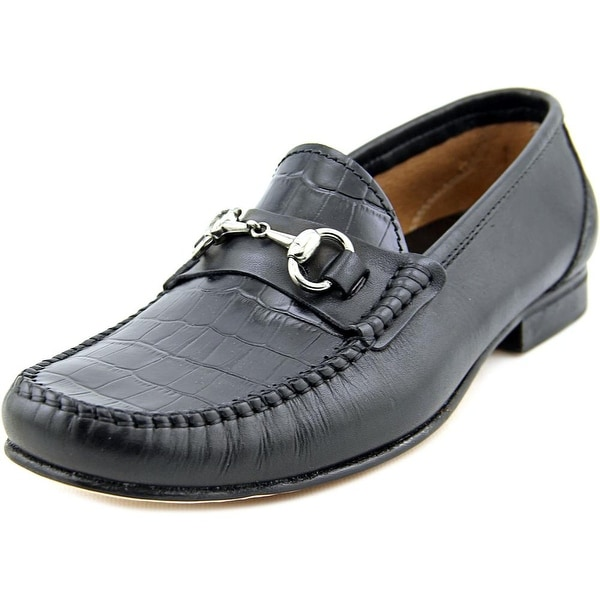 Sandro Pravda Men Round Toe Leather Black Loafer