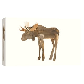 """PTM Images 9-102012  PTM Canvas Collection 8"""" x 10"""" - """"Moose"""" Giclee Moose Art Print on Canvas"""