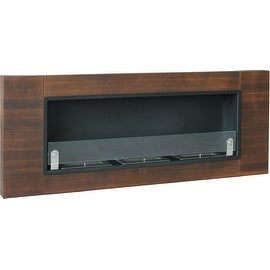Nu-Flame Finestera Tr?s Wall Mounted Bio Ethanol Fireplace, 21 Inch High x 53 In