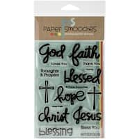 "Paper Smooches Clear Stamps 4""X6"" -Have Faith"