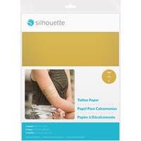 "Silhouette 8.5""X11"" Temporary Tattoo Paper 2/Pkg-Gold"