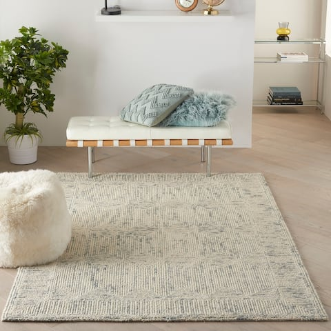 Nourison Vail Textured Modern Hand Tufted Loop Wool Area Rug