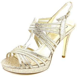 Adrianna Papell Aiden   Open Toe Canvas  Sandals