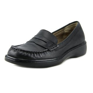 Array Tracy Women  Round Toe Leather Black Loafer