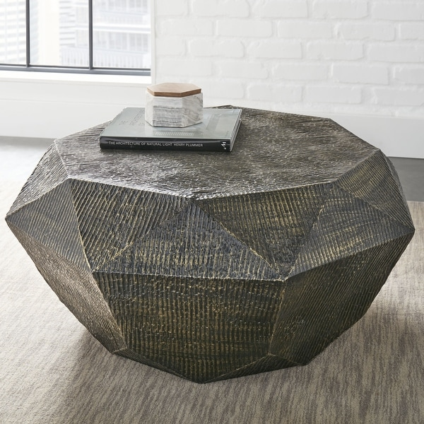 The Curated Nomad Divo Geometric Shaped Coffee Table. Opens flyout.