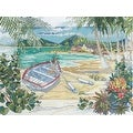 "Bucilla Counted Cross Stitch Kit, Island Boat by Paul Brent - brown - 9.75"" x 13"" - Thumbnail 0"