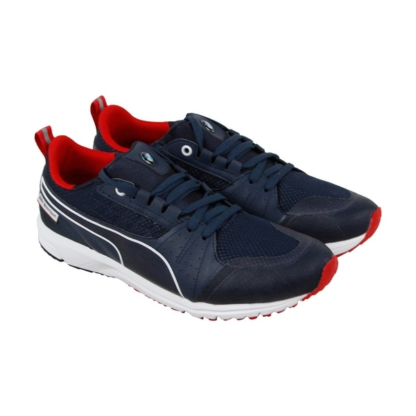 Puma BMW MS Pitlane Nightcat Mens Blue Mesh & Synthetic Athletic Running Shoes